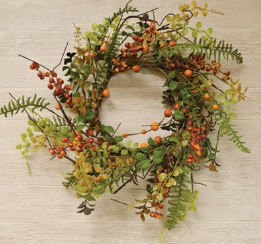 Fall Berry Cluster Wreath - 6-1/2 In