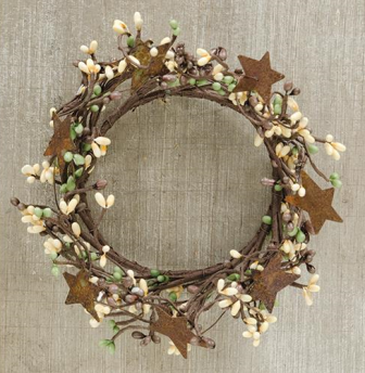 Pip Ring With Rusty Stars - Coffee Bean - 4 In