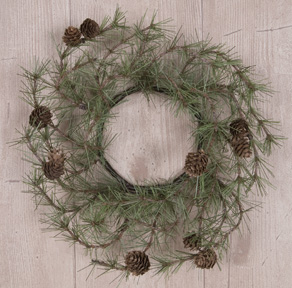 Cypress Pine Candle Ring - 4 Inch