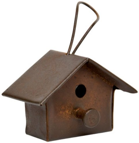 Rusty Mini Tin Birdhouse