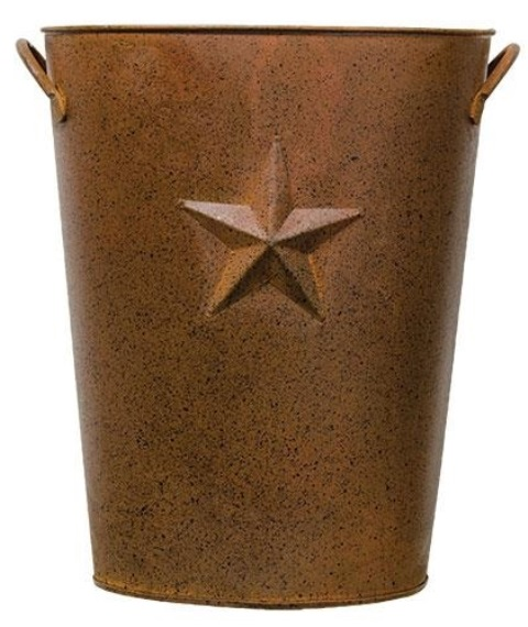 Rusty Pail With Embossed Star