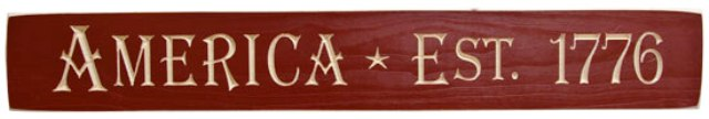 America 1776 Engraved Sign