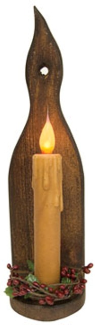Aged Wood Flame Sconce