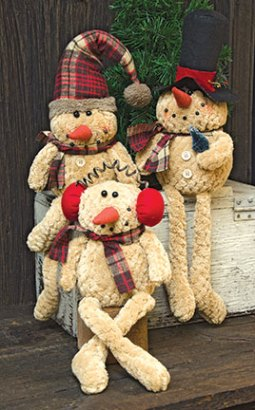 Sitting Chenille Snowman - Assorted