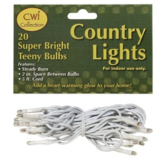 Teeny Lights 20 Count White Cord
