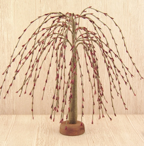 "Burgundy Pip Willow Tree, 14""-Burgundy Pip Willow Tree, 14"