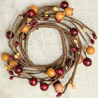 Burgundy-Old Gold Combo Berry Ring - 2 Inch-Burgundy-Old Gold Combo Berry Ring - 2 Inch