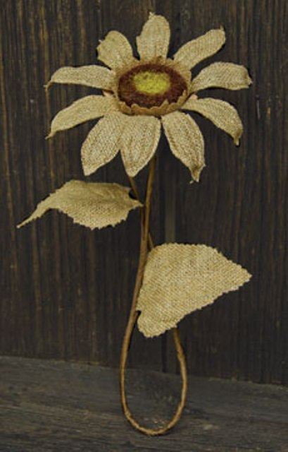 "Burlap Sunflower - Natural - 27""-Burlap Sunflower - Natural - 27"