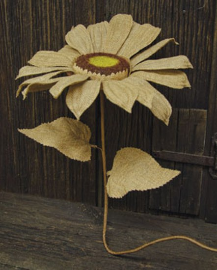Burlap Sunflower - Natural - 35 Inch-Burlap Sunflower - Natural - 35 Inch