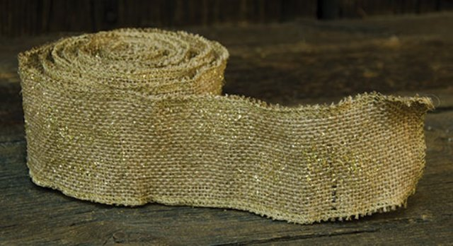 Glitter Burlap Ribbon - 2.5 In-Glitter Burlap Ribbon - 2.5 In