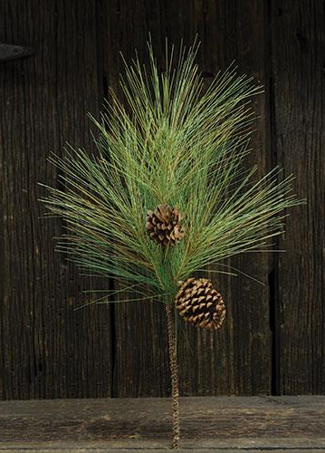 Fine Woody Needle Pine Branch  24 In
