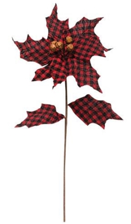 Buffalo Gingham Country Poinsettia-Buffalo Gingham Country Poinsettia
