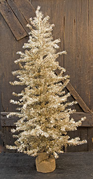 "Antique Silver Pine Tree, 36""-Antique Silver Pine Tree, 36"