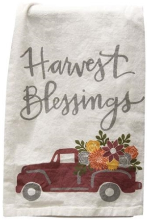Harvest Blessings Dish Towel-Harvest Blessings Dish Towel