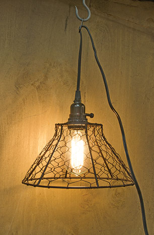 Chicken Wire Lamp W/Cord-Chicken Wire Lamp WCord