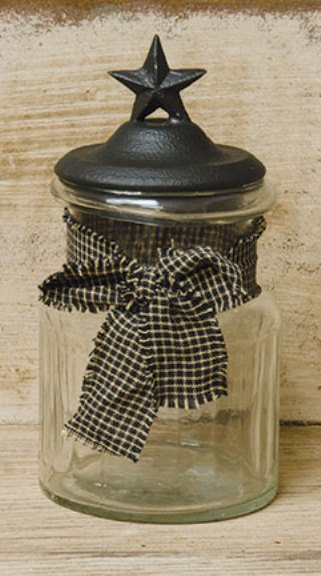 Glass Jar WIth Star Lid-Glass Jar WIth Star Lid
