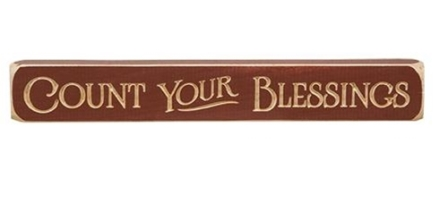 """Count Your Blessings Engraved Block, 12""""-Count Your Blessings Engraved Block, 12"""