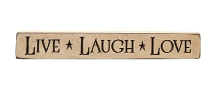"Live Laugh Love Engraved Block, 12""-Live Laugh Love Engraved Block, 12"