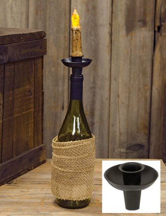 Black Wine Bottle Taper Holder-Black Wine Bottle Taper Holder
