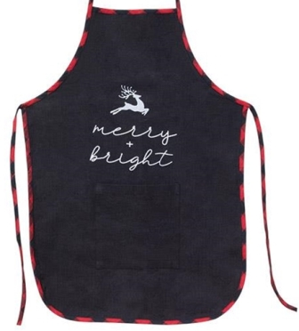 Merry and Bright Buffalo Check Apron-Merry and Bright Buffalo Check Apron