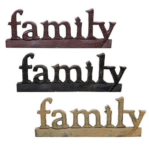 Family Resin Sign, 3 Asstd. Sold Individually Not As A Set-Family Resin Sign, 3 Asstd. Sold Individually Not As A Set