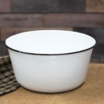 Black Rim Enamel Mixing Bowl-Black Rim Enamel Mixing Bowl