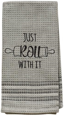 Just Roll With It Dish Towel, 20x28-Just Roll With It Dish Towel, 20x28