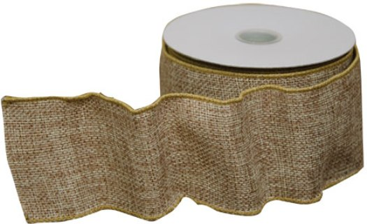 Wired Burlap Ribbon-Wired Burlap Ribbon