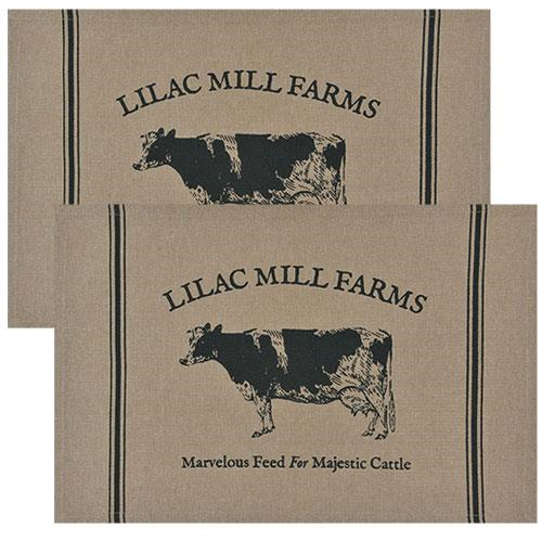 2/Set, Majestic Cattle Placemats, 12x18-2Set, Majestic Cattle Placemats, 12x18
