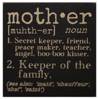Mother Definition Sign-Mother Definition Sign