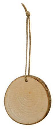 "Natural Wood Slice Ornament 2.5""-Natural Wood Slice Ornament 2.5"