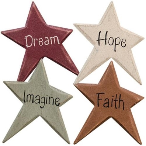 4/Set, Colorful Star Word Magnets-4Set, Colorful Star Word Magnets