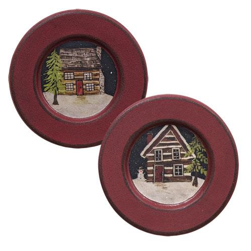 Cabin in the Snow Plate, Asst Sold Individually Not As A Set-Cabin in the Snow Plate, Asst Sold Individually Not As A Set