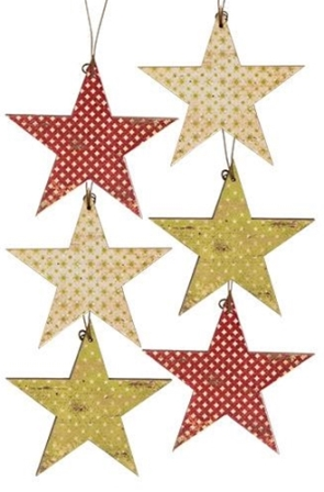 6/Set, Vintage Star Ornaments-6Set, Vintage Star Ornaments