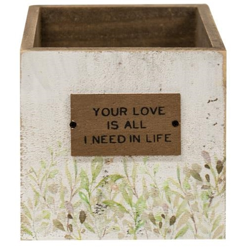 Your Love Wooden Catch-All Box, 2 asstd. Sold Individually Not As A Set-Your Love Wooden Catch-All Box, 2 asstd. Sold Individually Not As A Set