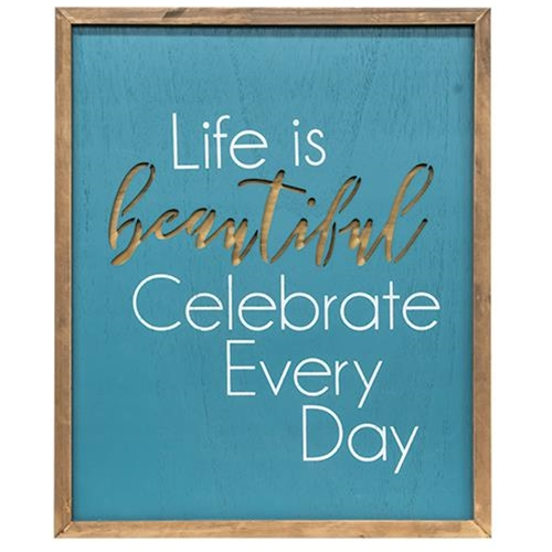 Life Is Beautiful Framed Cutout Wall Art-Life Is Beautiful Framed Cutout Wall Art