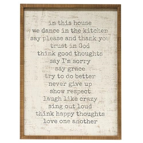 In this House Rustic Framed Sign-In this House Rustic Framed Sign
