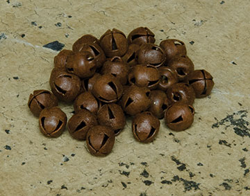48/Pkg, Rusty Jingle Bells, 6mm-48Pkg, Rusty Jingle Bells, 6mm