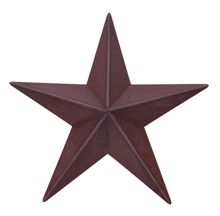 Burgundy Barn Star, 48 inch-Burgundy Barn Star, 48 inch