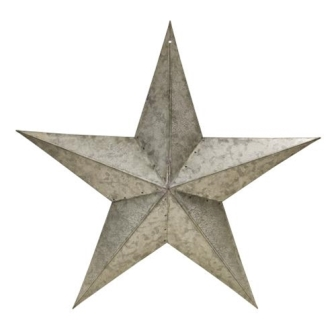 "Galvanized Barn Star - 18""-Galvanized Barn Star - 18"