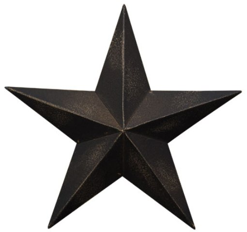 "Antique Black Barn Star, 5.5""-Antique Black Barn Star, 5.5"
