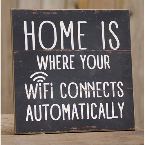 Wifi Connects Sign-Wifi Connects Sign