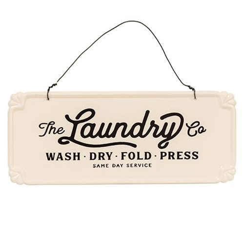 The Laundry Co. Vintage Hanging Sign-The Laundry Co. Vintage Hanging Sign