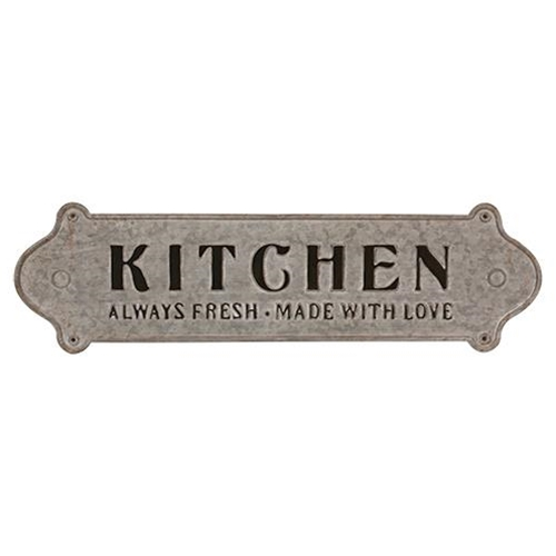 Made with Love Distressed Metal Kitchen Sign-Made with Love Distressed Metal Kitchen Sign