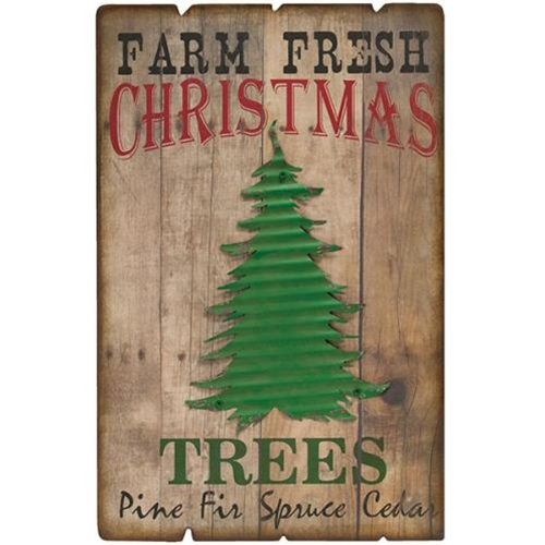 Farm Fresh Trees Sign-Farm Fresh Trees Sign