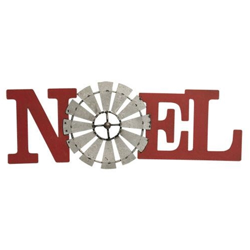 Noel Windmill Metal Plaque-Noel Windmill Metal Plaque