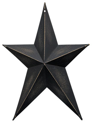 "Antique Black Whimsical Star, 8""-Antique Black Whimsical Star, 8"