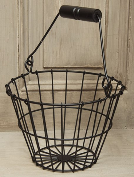 Black Wire Egg Basket-Black Wire Egg Basket