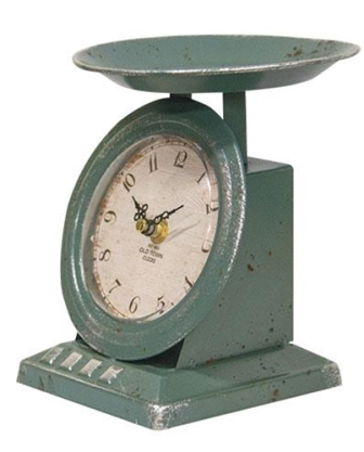 Vintage Blue Old Town Scale Clock-Vintage Blue Old Town Scale Clock