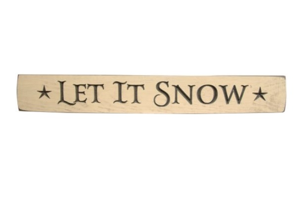 Let It Snow Engraved Sign-Let It Snow Engraved Sign